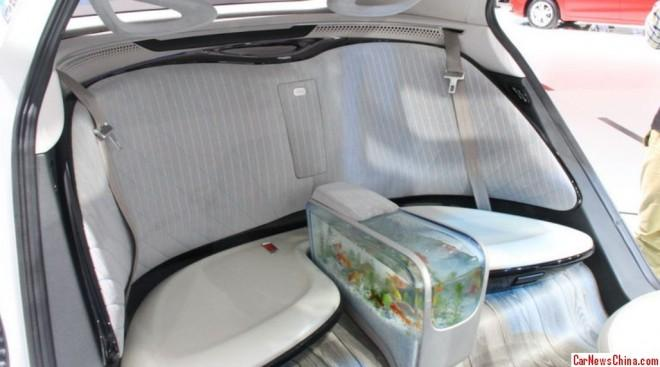 Chinese car has an in built fish tank for Car fish tank